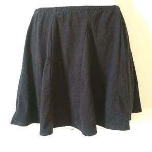 Brandy Melville Black Microfiber Flutter Skirt